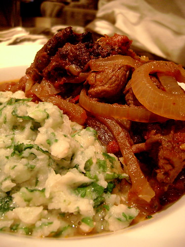 Lamb Stew with Butter Bean Mash