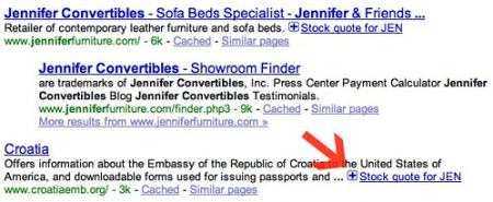 Croatia & Jennifer Convertibles Share Results in Google