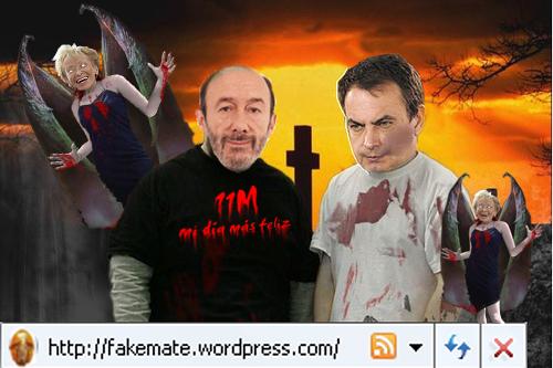 burracalva rugalcabra zETApé Zapatero vampiro complice terrorismo de la vega de la vogue gentuza psoe 11m fakemate