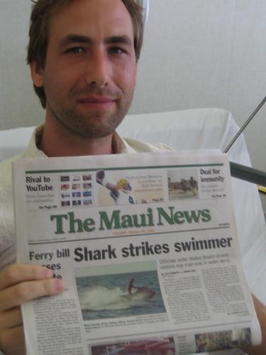 Shark Strikes Swimmer
