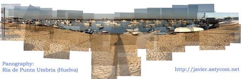 Panografía de la Ría de Punta Umbría