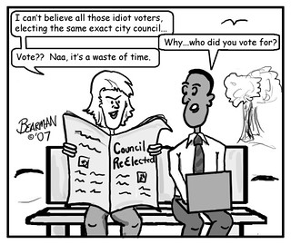 11 9 07 Voter Apathy Bearman Cartoon