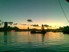 皇后碼頭的最後一個日出