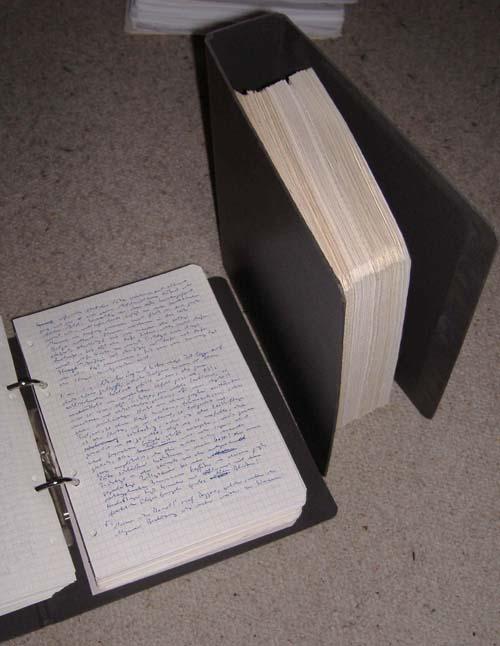 Friedhelm Rathjen, die Ur-Übersetzung, Handschrift