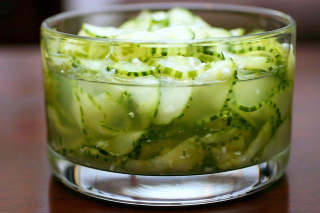 Viennese cucumber salad