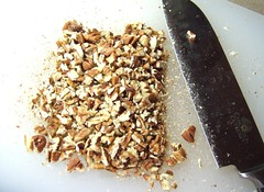 Chopped pecans.. mmm..