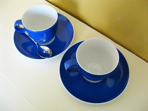 Pretty blue cups from Germany.