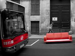 Eine Rote Couch Und Der 13A
