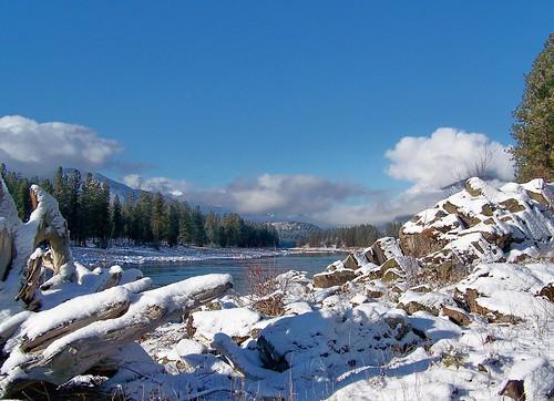 Clark Fork River in winter