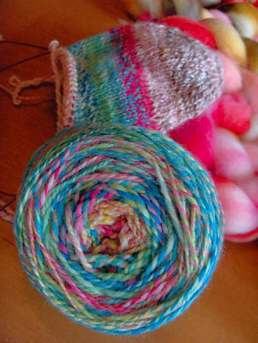 Spring Morning hand spun yarn