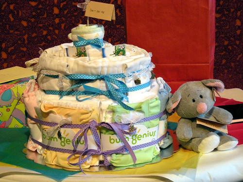 Diaper Cake & Dormouse (baby shower