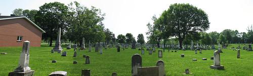 Polk Grove Cemetery Vandalia Ohio PANORAMA