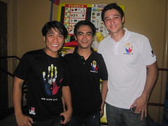 Efren Peñaflorida Jr, Ederic Eder and Andrew Wolff at the Kariton Building launch.