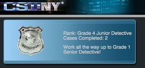 NY Dectective Rank