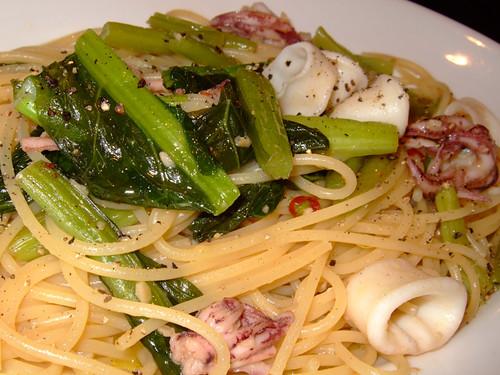 Calamari Nozawana Spaghetti