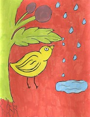 the second ugly bird painting (july 2007)