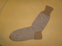 Simple S'mores Socks - Sock 1 Done