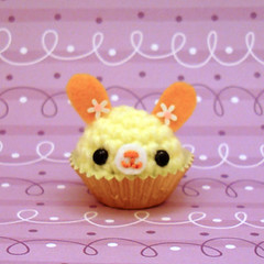 Amigurumi Lemon cream bunny rabbit bon bon