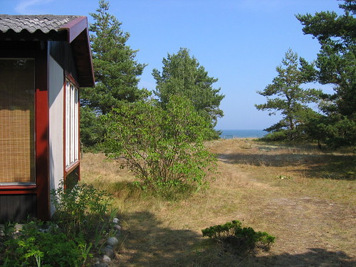 Summerhouse view on the Baltic Sea