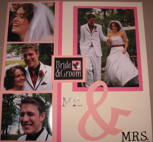 oriona's wedding scrapbook-bride and groom