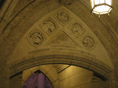 Next to the entrance to the memorial chamber