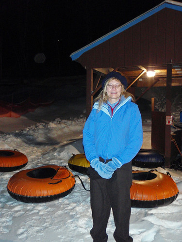 Eileen at Whaleback tubing slope