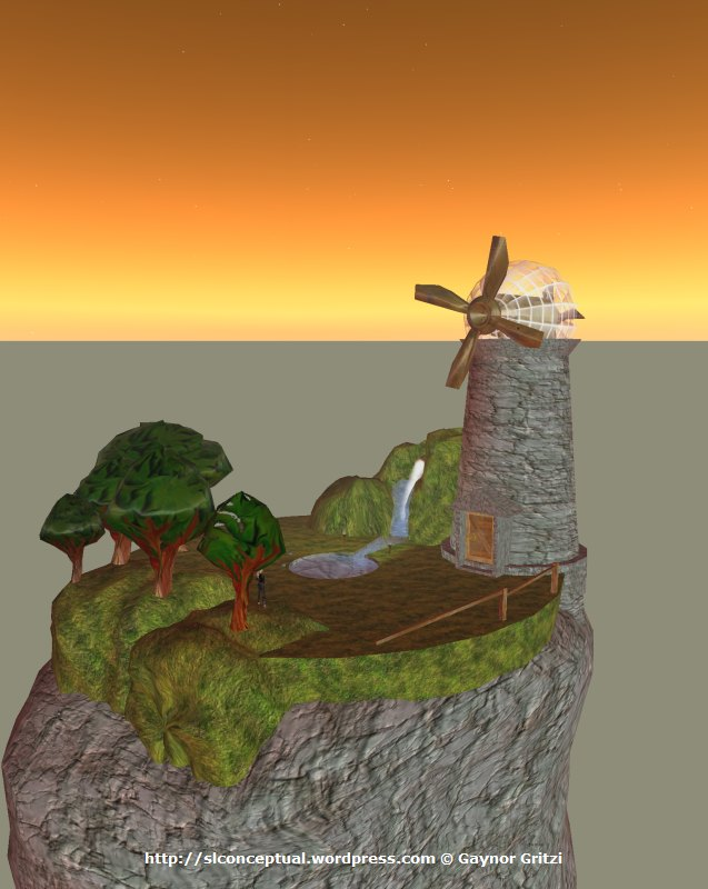 Floating Island with Windmill 09