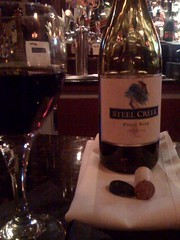 steel creek wine at the Fin & Bone