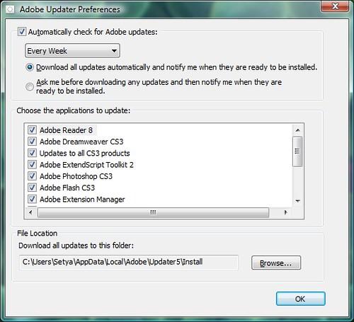 Cara Disable Auto Update Adobe |