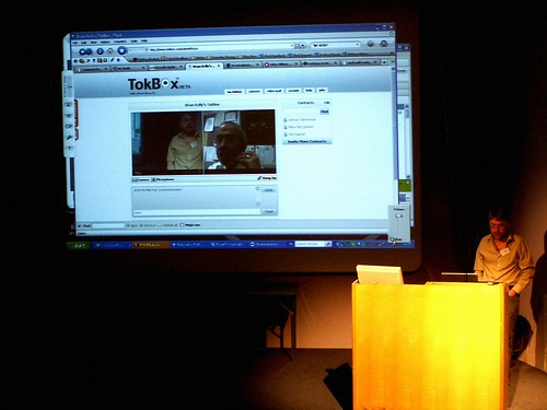 Use of TokBox at the event