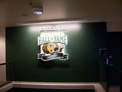Entrance to the Green Bay Packers Hall of Fame