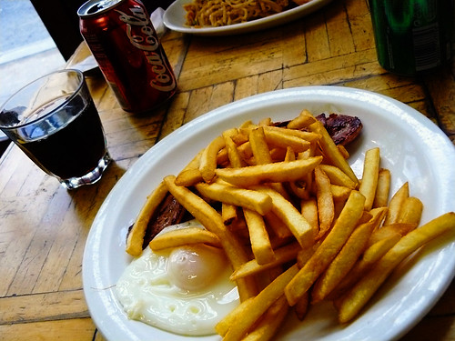 Eggs, chips & bacon
