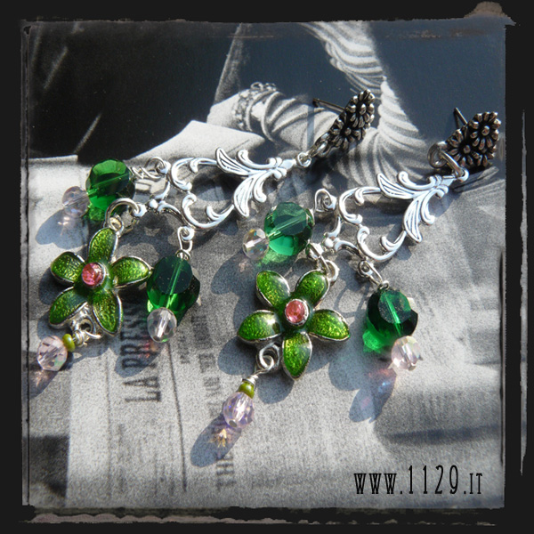 LDFIVER Orecchini verdi - Green earrings