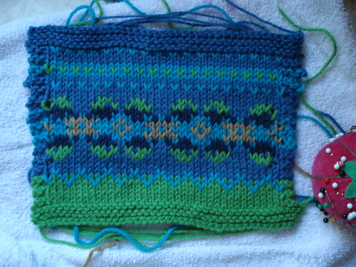 Fairisle yoke swatch