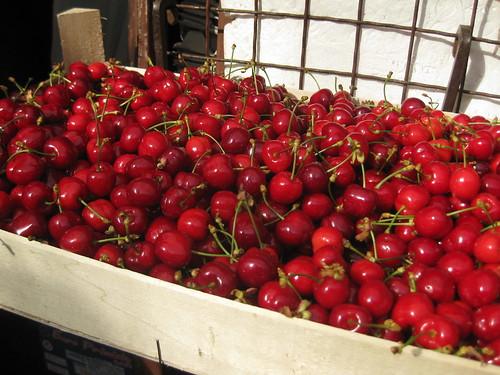 Cherries on Sale in the Senjak Market