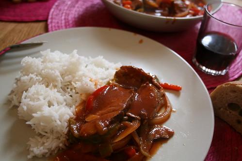 Magret de Canard sauce piquante
