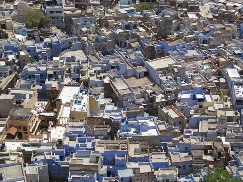 view of the blue city