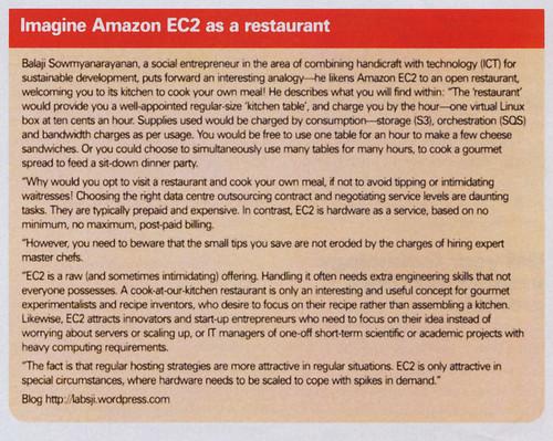Amazon EC2 as Restaurant
