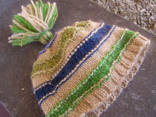 scrap-happy mountain mohair hat - flat