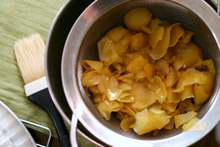strained apple syrup