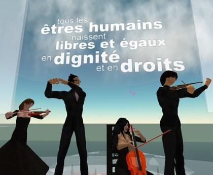 Concert sur l'Ile Verte pour les Droits de l'homme (lundi 10 décembre 21 h GMT)
