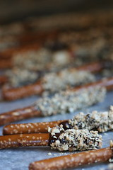 Nut-Smothered Chocolate-Dipped Pretzels 3