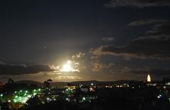 Moonrise over Hobart