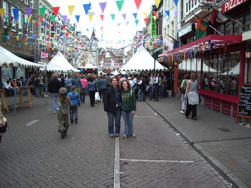 Angela and I and festivities.