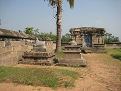 7.Goddess Shrine and the outside Nandhi