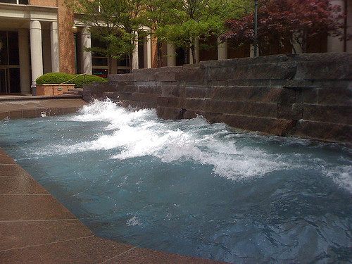 'Coastline' Wave pool outside the NOAA building in Silver Spring - Taken With An iPhone