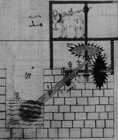 ILustrasi pengangkat air