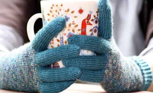 Endpaper mit.. gloves