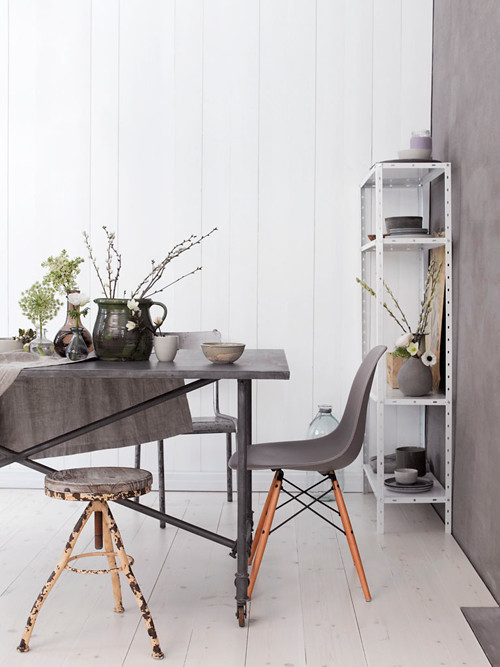 Gorgeous Grey + Violet Room Scheme