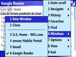 jB5 Navegador para Windows Mobile Administracion de multiples ventanas